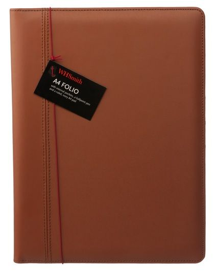 Sharing WHSmith Globetrotter A4 Tan Folio from WHSMITH