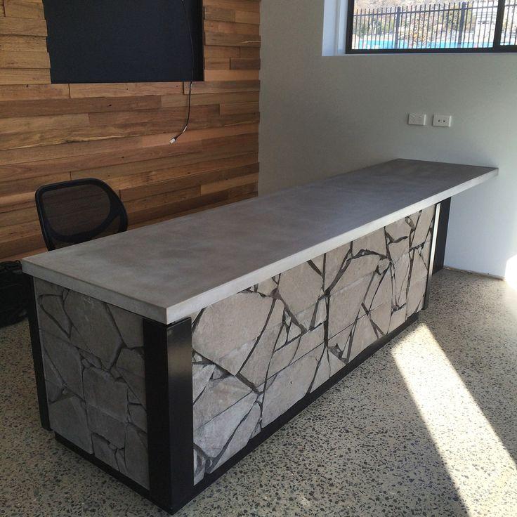 Polished concrete counter top by Mitchell Bink Concrete Design. www.mbconcretedesign.com.au