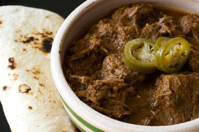 This is the best carne guisada recipe I've tried yet - the gravy is spicy and the meat is tender.