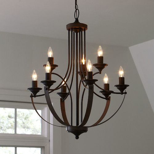found it at allmodern camilla 9 light candlestyle chandelier - Foyer Chandeliers