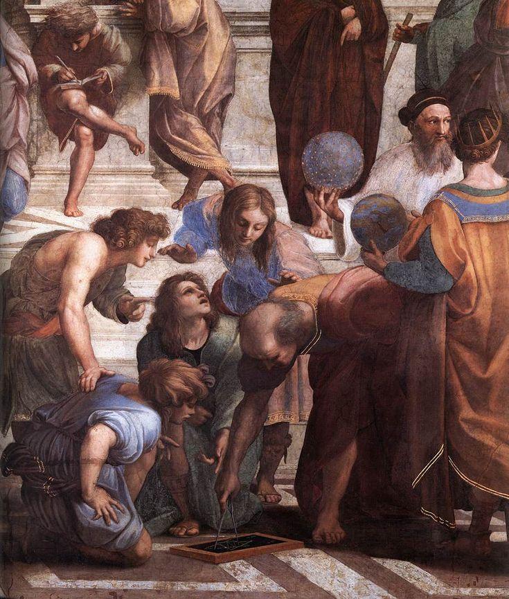 Raffaello-Scuola di Atene(dettaglio ),1510,Stanza della Segnatura,Musei Vaticani