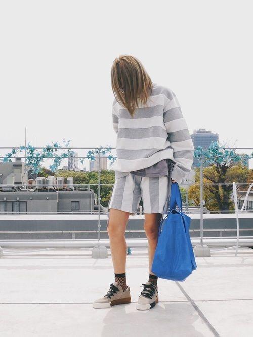 今日はゆるゆるセットアップ🐨 adidas×alexanderwang のDrop3🐭 ゆるゆる