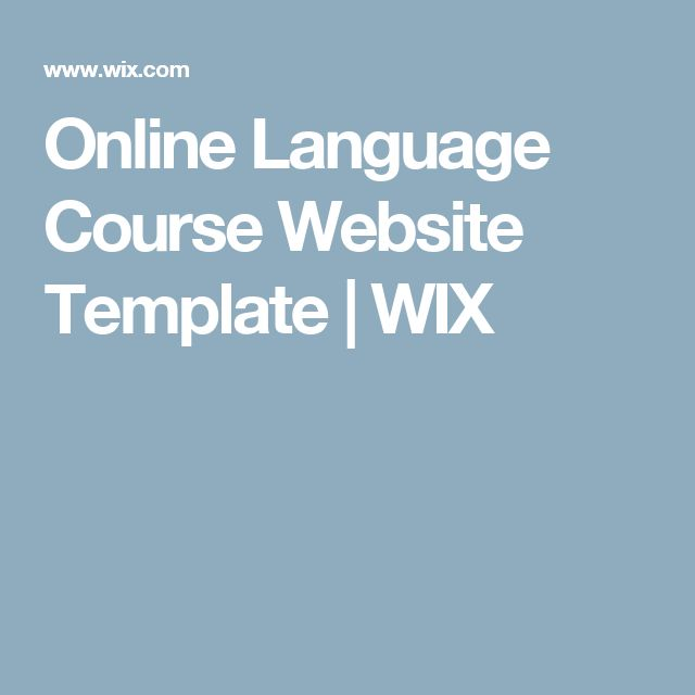 Online Language Course Website Template | WIX