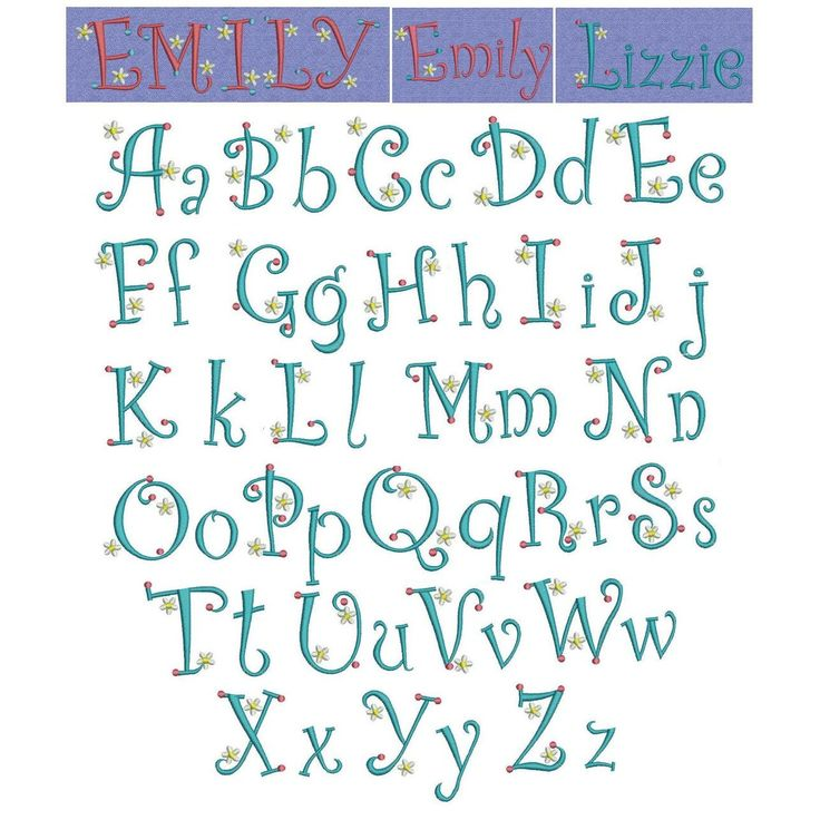 45 best Embroidery Fonts images on Pinterest