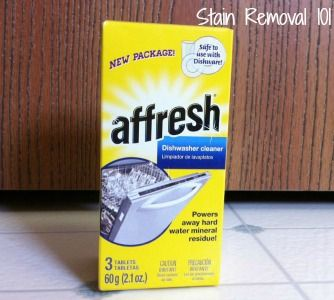 Affresh Dishwasher Cleaner reviews, both positive and not as glowing {on Stain Removal 101}