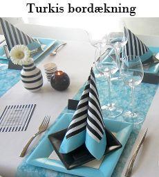 turkis borddækning til konfirmation