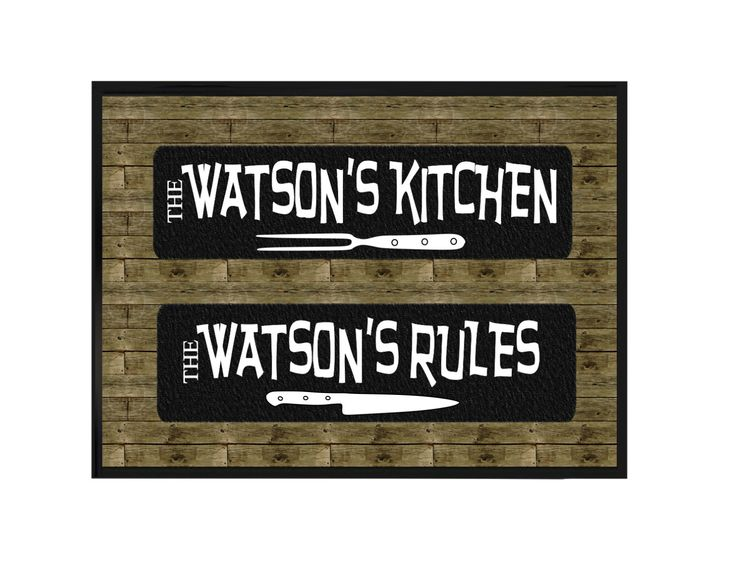 Personalized Kitchen Family Sign, Custom Family Name Wall Plaque, Kitchen  Decor Quote, Personalized