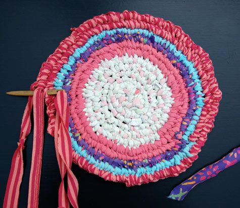Another Rag Rug A Toothbrush One This Time Using The Remains Of Kids