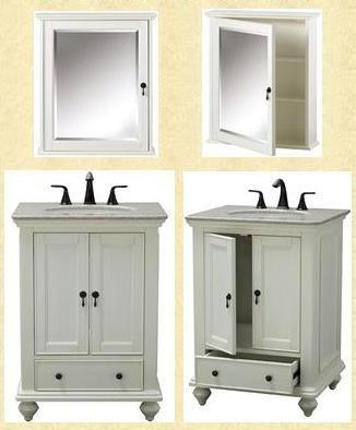 Photo Image  Inch to Inch Wide Vanities for small bathrooms Petite Sink Vanities Single Sink Bathroom Furniture Cabinets Space Saving Sink Vanities