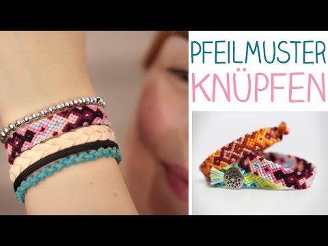 ▶ DIY Knüpfarmband Pfeil Muster in nur 6 Reihen!? Freundschaftsarmband ganz einfach - alive4fashion - YouTube