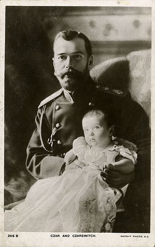 The Russian Czar with his son Alexei