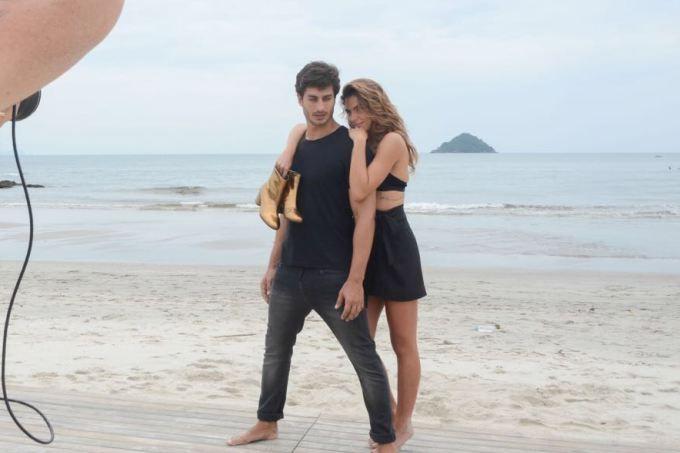 Mariana Goldfarb e André Resende estrelam campanha juntos