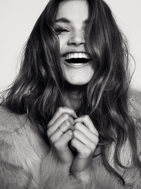 Happy faces always make hair prettier. ;)