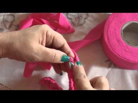 tutorial#7parte 2 - come realizzare una pochette in fettuccia di tulle - YouTube