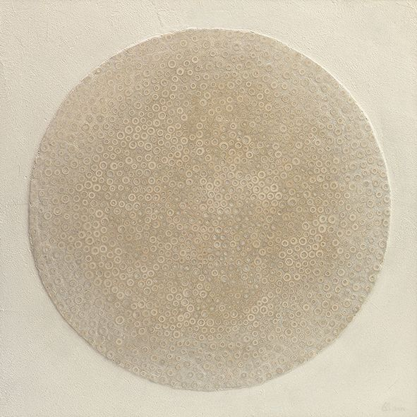 Stefano Maraner.                                Circle- mixed media/wood on table