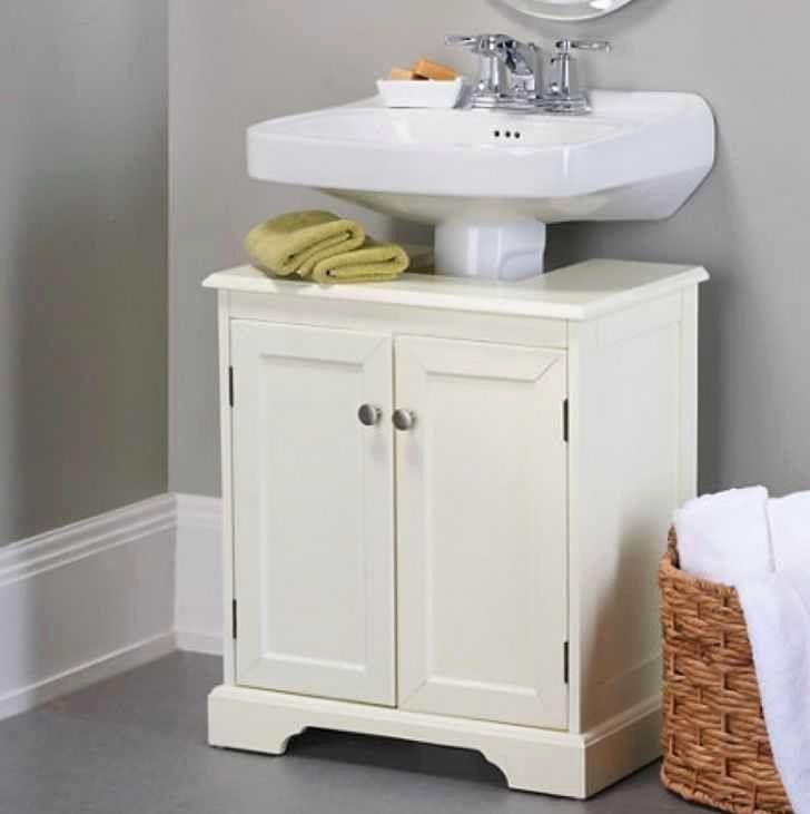 Bathroom Furniture Under Sink Storage Desain Interior Rumah