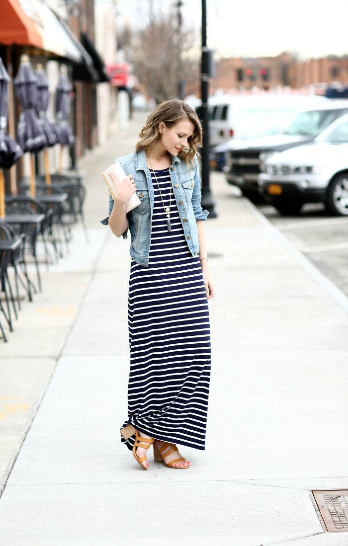 @charmingcharlie Striped Maxi Dress