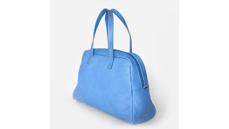Elita leather Bowling Bag. Handmade in Italy.