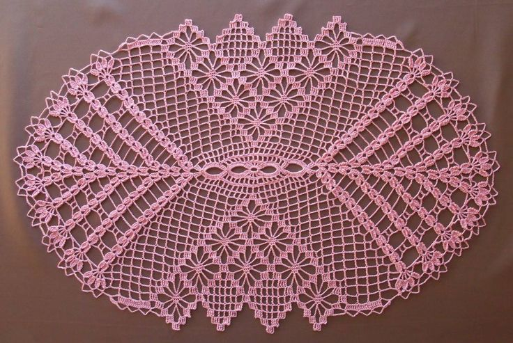 There are lot of beautiful doilies with schemas.