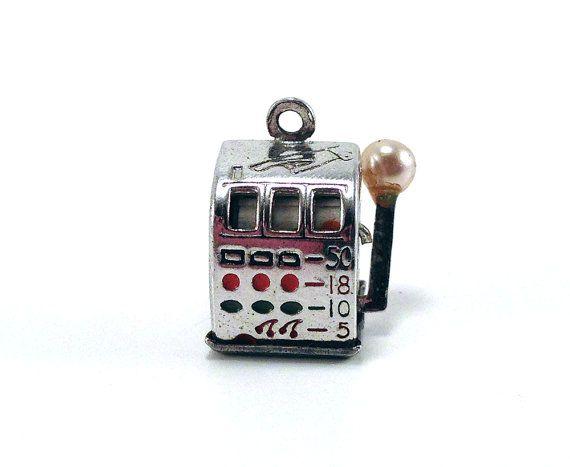 Vintage Slot Machine Charm for Bracelet Sterling by baileysbizarre, $21.95