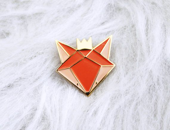 Fox - pins pins geëmailleerd Fox - broche - pins - pennen metalen emaille en gouden - verguld - accessoire en cadeau vrouw - kind modus