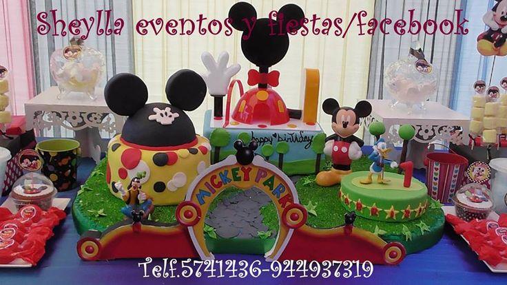 Torta mickey mouse casa club club house decoraci n for Decoracion de tortas infantiles