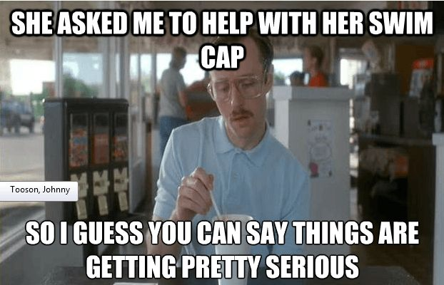 Haha! This is very true with my swim team...which is why only coaches help with swim caps.