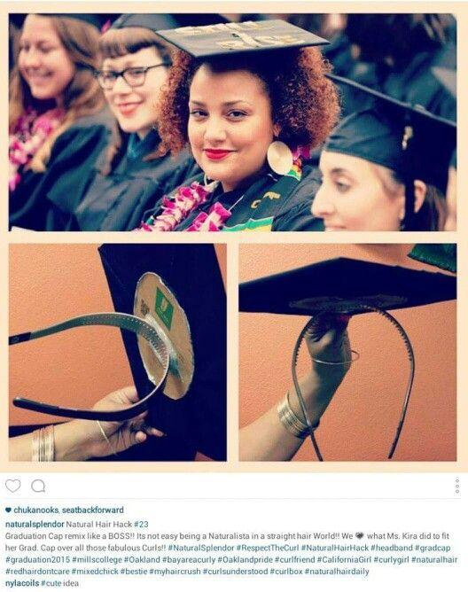 Graduation cap headband #natural #bighair
