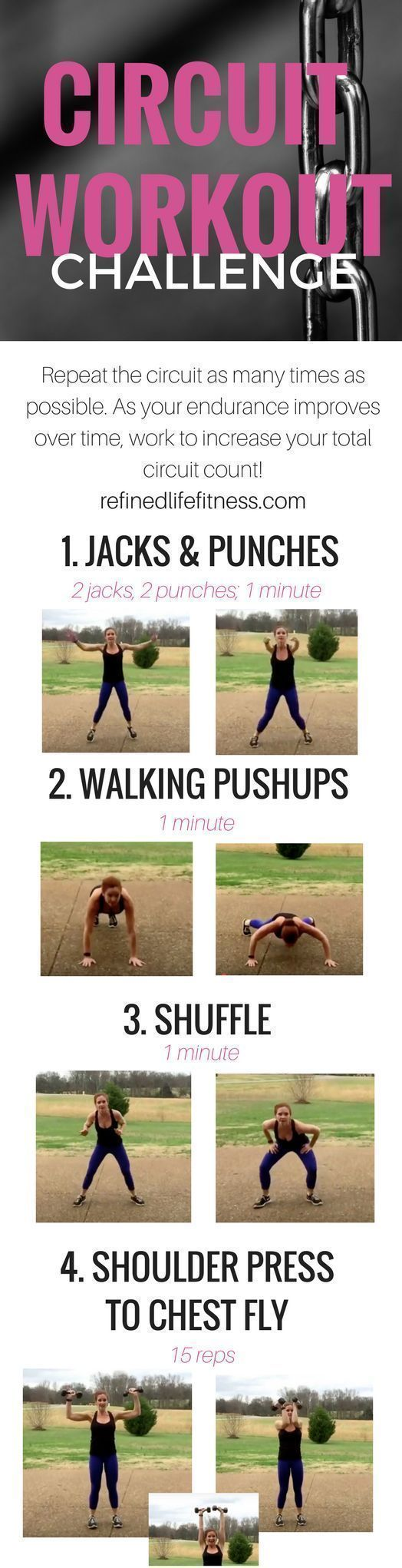 5 minutes to get that heart rate up!! Use this circuit workout to workout at hom…