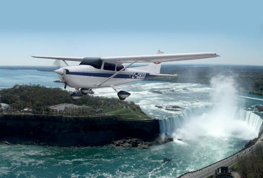 Air Taxi and Tour from Niagara - Toronto Including Ground Transport from Niagara Hotels Enjoy a spectacular view of Niagara Falls from above on this 45-minute air tour. Save the drive to Toronto and fly from Niagara District Airport to Toronto Island Airport. This package includes ground transportation from all Niagara hotels to the Niagara airport. From there, board a 1-way air taxi to Toronto, highlighted by a 30-minute flight over the Niagara Region along the way.After a h...