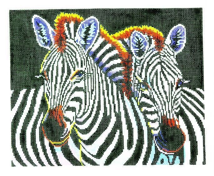 1000 images about zebra on pinterest rainbow zebra acrylics and lee zebra handpainted needlepoint canvas 825 by 1025 bf 18mesh altavistaventures Images
