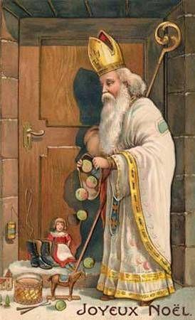 French postcard Santa