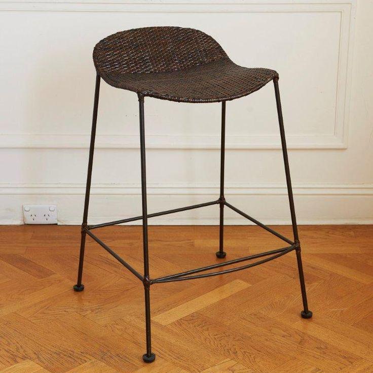 Sorrento Bar Stool #barstool #furniture #interiordesign #homedecor #canetop #metalbase