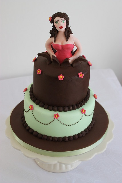 Woman Popping Out Of Cake