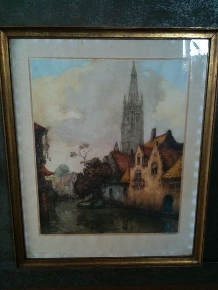 Beautiful Alfred Van Neste (1874-1969) signed and numbered print...