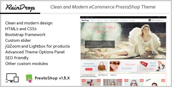 RainDrop - Clean eCommerce PrestaShop Theme