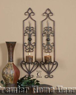 tuscan st2iron wall sconce scroll design premier home decor