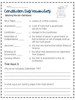 29 best CONSTITUTION DAY images on Pinterest | School, First page ...