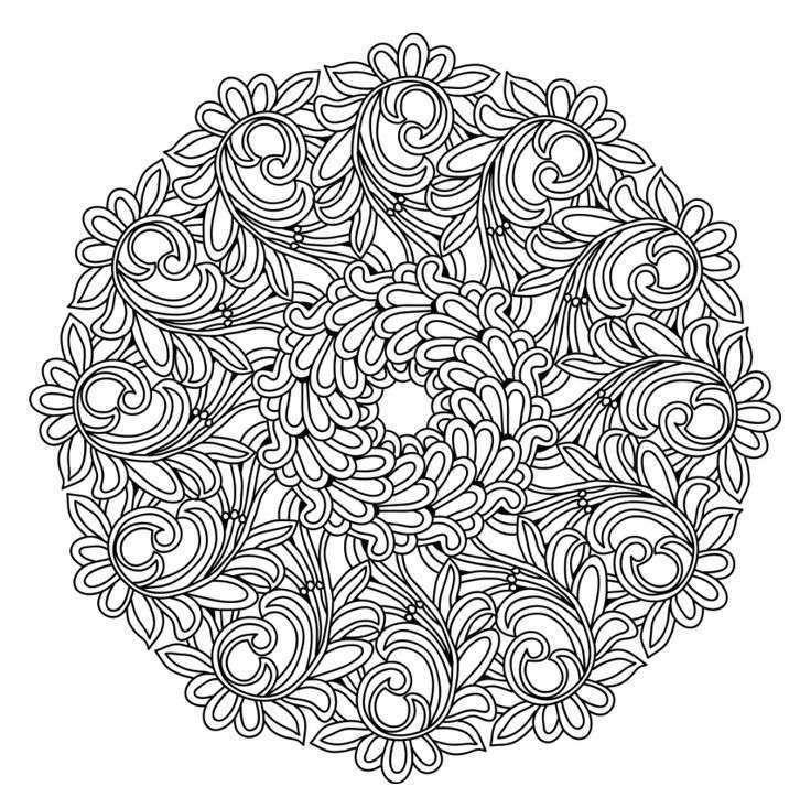 Blatt Mandala Mandalas Blattmandala Mandalas Mandala Ausmalen Mandala Malvorlagen Kostenlose Ausmalbilder