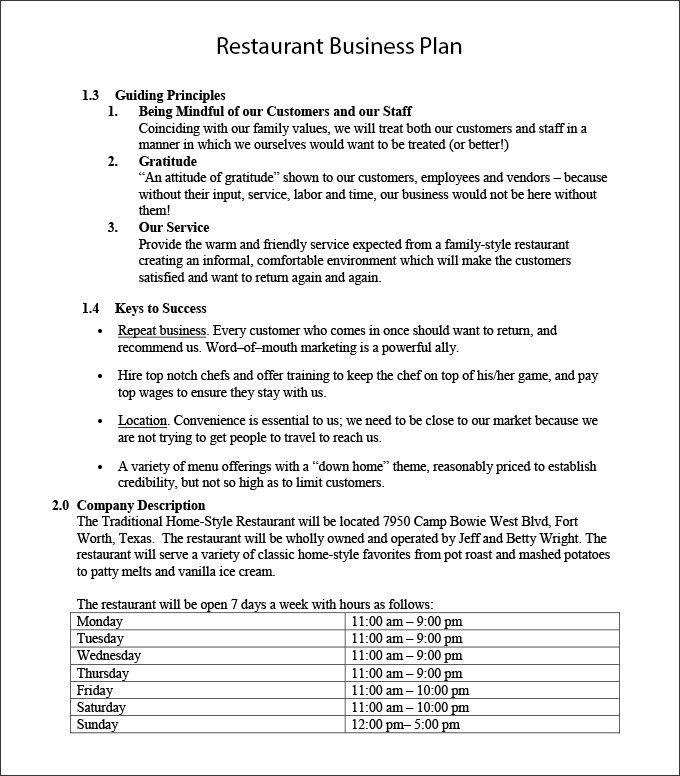 Restaurant Business Plan Template Word Elegant Restaurant Business Plan Template 22 Wor Restaurant Business Plan Cafe Business Plan Business Plan Template Word