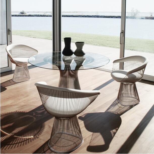 Warren Platner Gold Plated Armchair Which Is Distinguished By