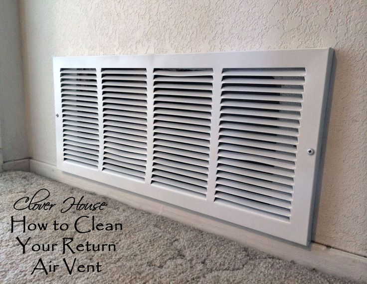 Clover House: How to Clean Your Return Air Vent