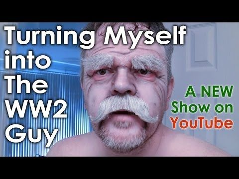 My Process of Becoming The Old Man Character - Using Brow Blocking, Makeup, Fake Mustache & Eyebrows - YouTube