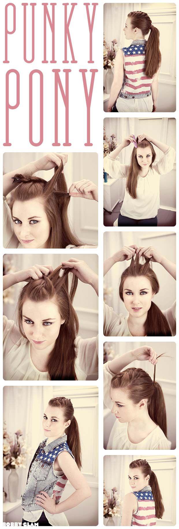 Punky #ponytail #hair #hairdo #hairstyles #hairstylesforlonghair #hairtips #tutorial #DIY #stepbystep #longhair #howto #guide #everydayhairstyle #easyhairstyle #braid #hairextensions