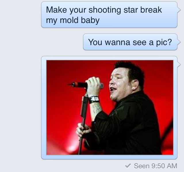 Woman replies to creepy guy's sexts with Smash Mouth lyrics