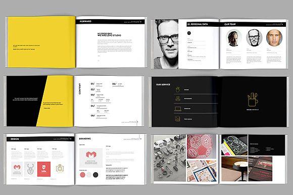 Modern Portfolio Booklet (36 pages) by celcius design on Creative Market