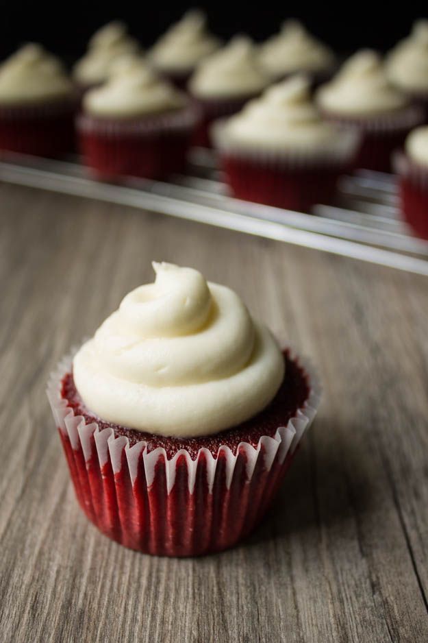 Vegan Red Velvet Cupcakes - even though the batter was like liquid they came out deliciously full and moist!