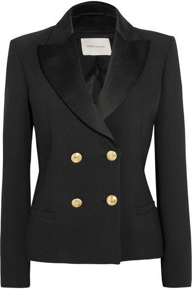 PIERRE BALMAIN Double-breasted crepe blazer