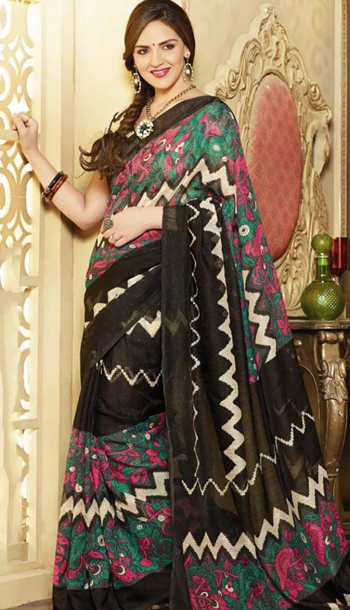Get Fashionable Latest Black Art Silk #PrintedSaree Product code: KPS-37561 Price: INR1396 (Unstitch Blouse), Color: Black Shop Online now: http://www.efello.co/Saree_Fashionable-Latest-Black-Art-Silk-Printed-Saree,-Sari_35740