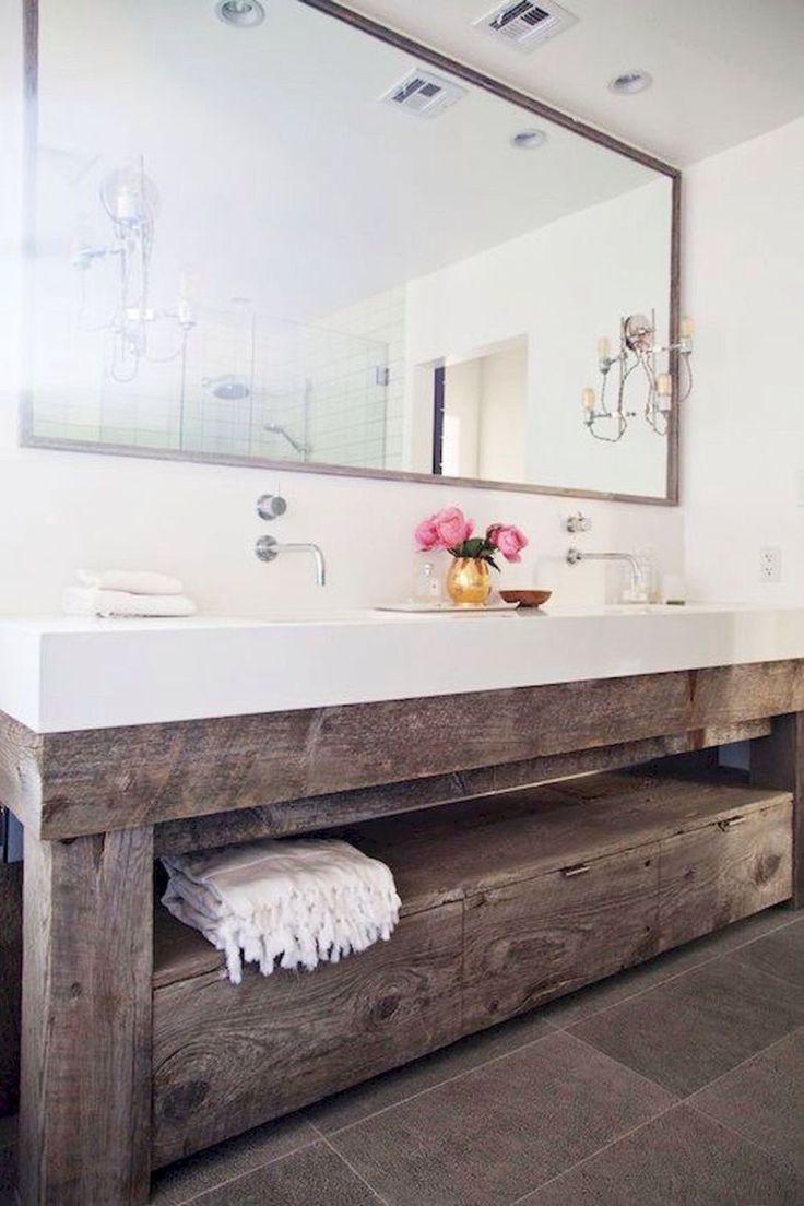 50 best farmhouse bathroom vanity remodel ideas (25)